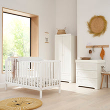 Load image into Gallery viewer, Tutti Bambini Malmo Cot Bed With Rio Furniture 3 Piece Set - White