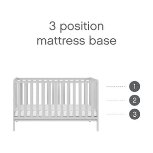 Tutti Bambini Malmo Cot Bed, Cot Top Changer & Mattress Bundle - Dove Grey