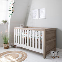 Load image into Gallery viewer, Tutti Bambini Modena 3 in 1 Cot Bed - White/Oak