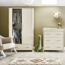 Load image into Gallery viewer, Obaby Nika Double Wardrobe - Oatmeal