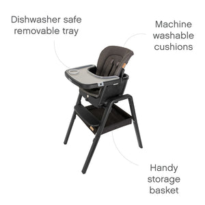 Nova Birth to 12 Years Highchair Package - Black / Black
