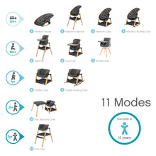 Load image into Gallery viewer, Nova Birth to 12 Years Highchair Package - Grey / Oak