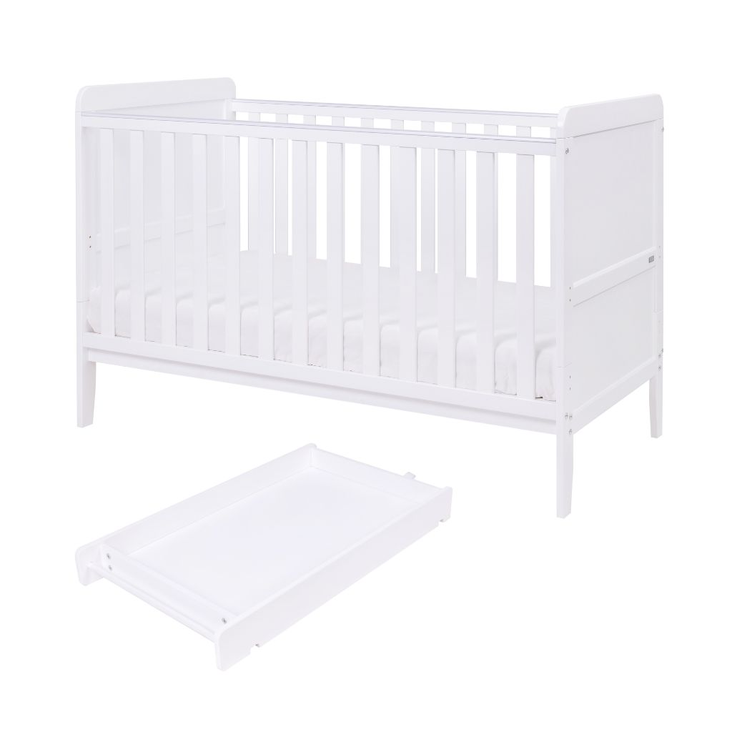 Tutti Bambini Rio Cot Bed With Cot Top Changer & Mattress - White