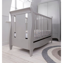 Load image into Gallery viewer, Tutti Bambini Roma Space Saver Sleigh Cot Bed - Dove Grey
