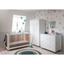 Load image into Gallery viewer, Tutti Bambini Siena 3 Piece Room Set - White/Beech