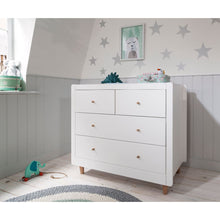 Load image into Gallery viewer, Tutti Bambini Siena Changing Unit - White/Beech