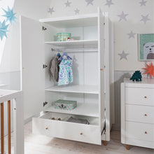 Load image into Gallery viewer, Tutti Bambini Siena Wardrobe - White/Beech