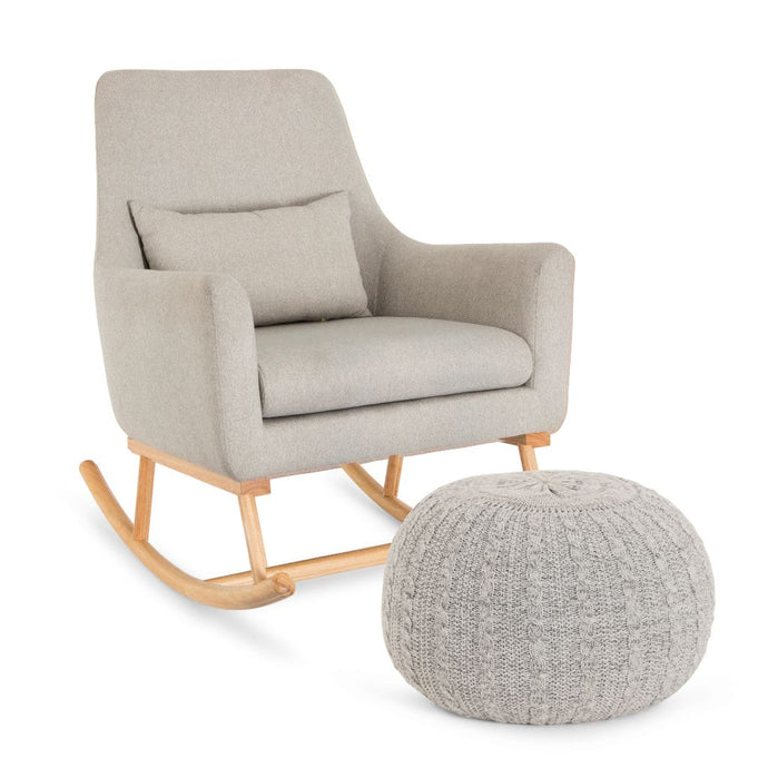 Tutti Bambini Oscar Rocking Chair & Pouffe Set - Pebble