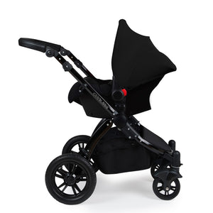 Stomp V3 Travel System with Galaxy Car Seat & Isofix Base - Black / Black