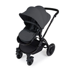 Load image into Gallery viewer, Stomp V3 I-Size Travel System with Mercury Car Seat & Isofix Base - Black / Graphite Grey