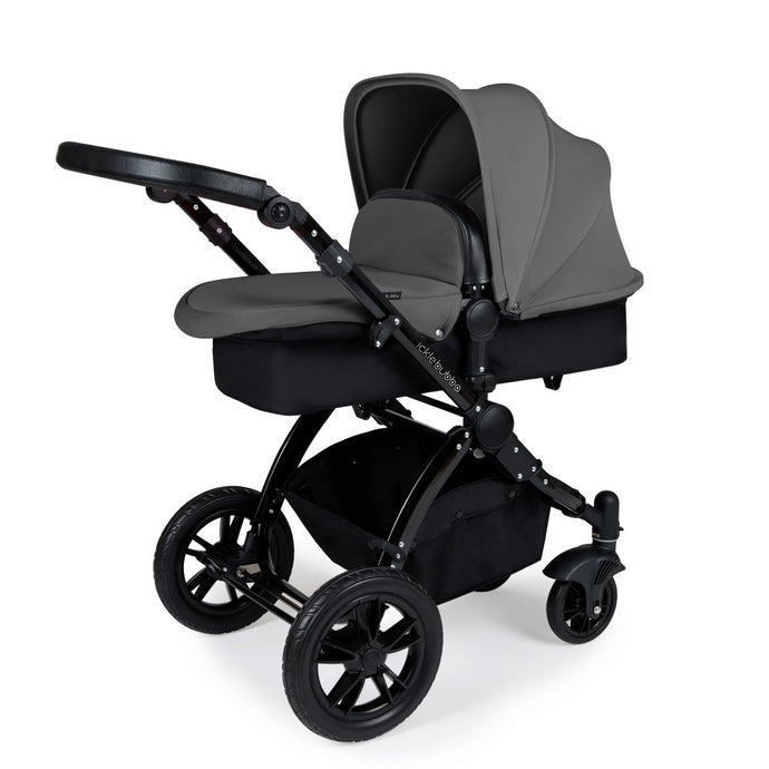 Stomp V3 2 In 1 Carrycot & Pushchair - Black / Graphite Grey