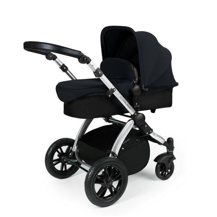 Stomp V3 2 In 1 Carrycot & Pushchair - Silver / Black