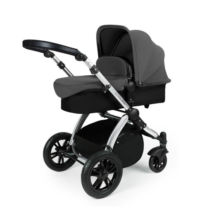 Stomp V3 2 In 1 Carrycot & Pushchair - Silver / Graphite Grey