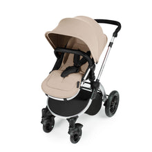 Load image into Gallery viewer, Stomp V3 I-Size Travel System with Mercury Car Seat & Isofix Base - Silver / Sand