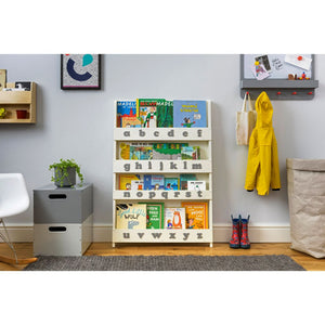 The Tidy Books Children's Bookcase - With Grey Alphabet