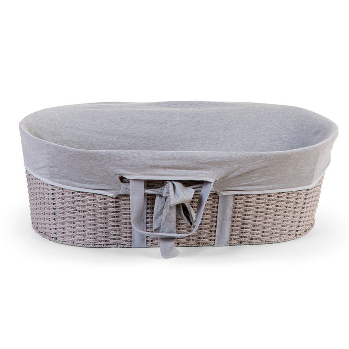 Childhome Moses Basket Cover - Jersey Grey