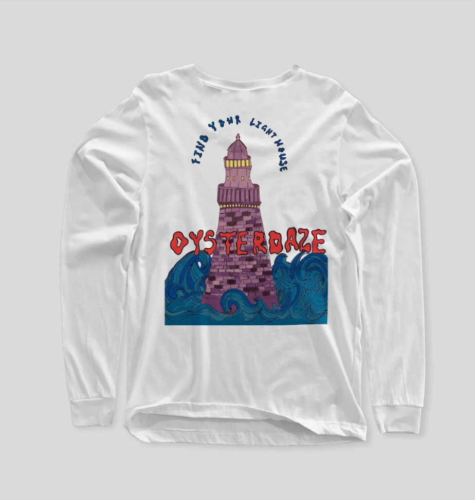 FIND YOUR LIGHTHOUSE WHITE LONGSLEEVED SHIRT