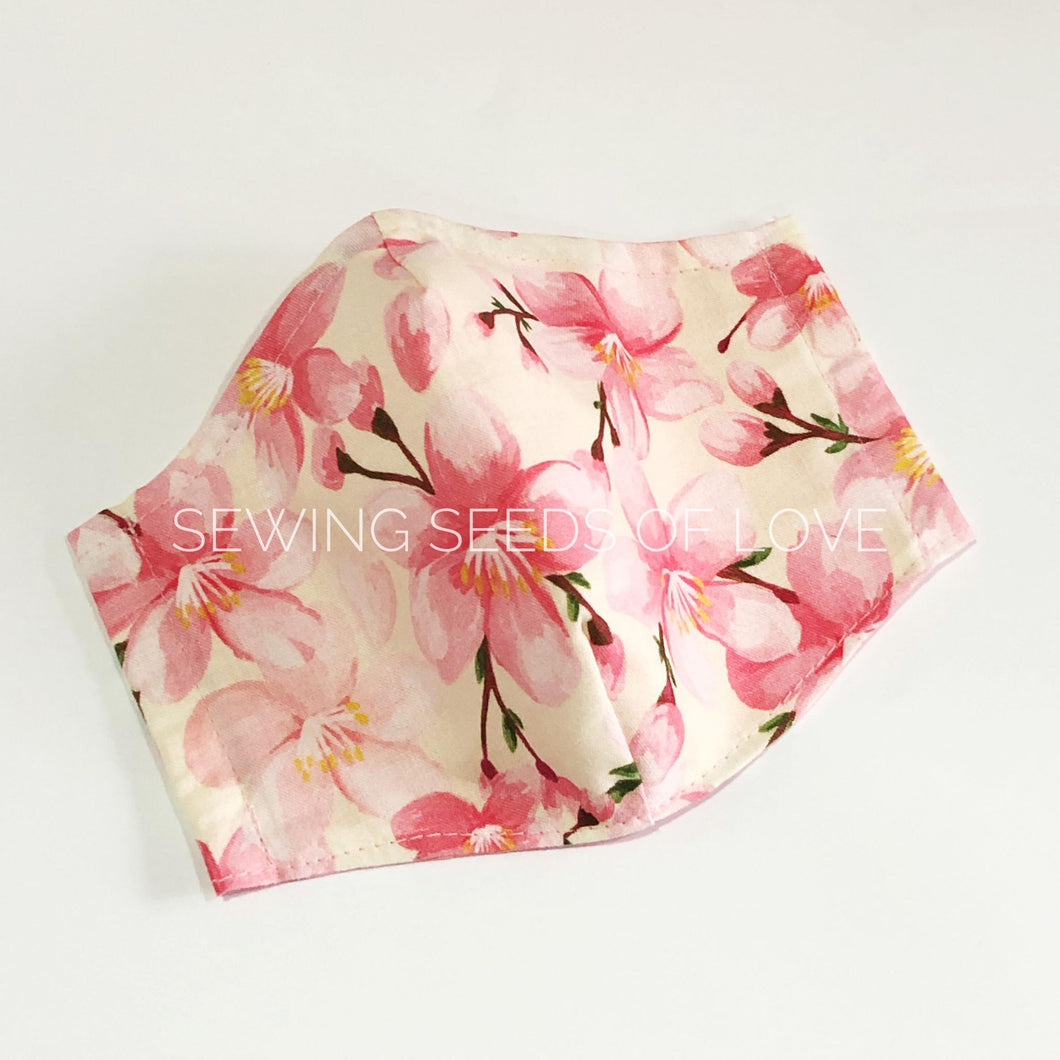 Sakura Bloom  (with matching mask pouch option)