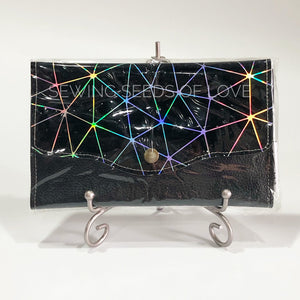 Vinyl Angbao Clutch - Black Geometric
