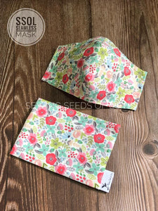 English Garden (with matching mask pouch option)
