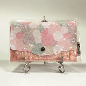 Vinyl Angbao Clutch - Pastel Roses