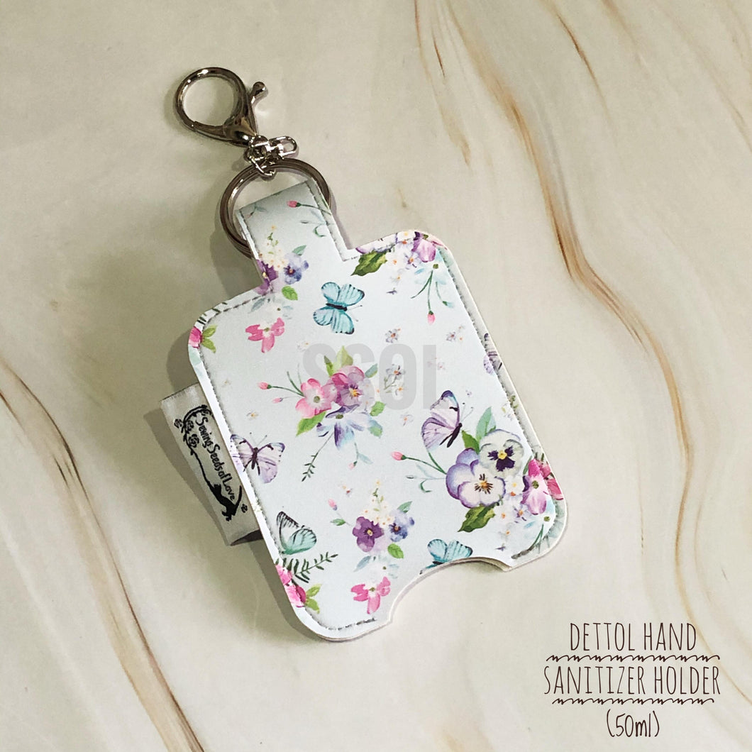 Vinyl Hand Sanitizer Holder (for 50ml bottle) - Floral 04