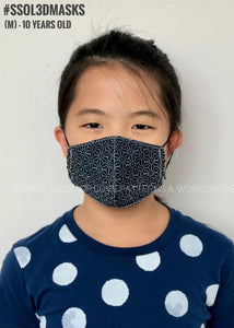 SSOL3DMasks Kit - White Criss-cross