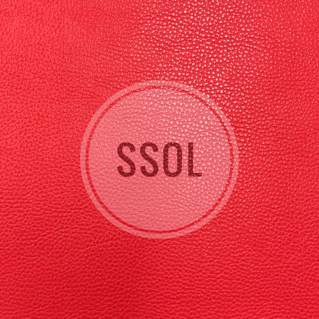Vinyl/PU Leather - Plain Solids Textured 03 (Chilli Red)