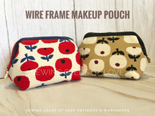 Load image into Gallery viewer, Seedlings 102 - Wire Frame Makeup Pouch Workshop