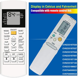 Replacement Air Con Remote for Panasonic  - Model: CV6