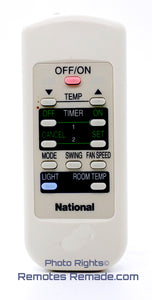 National Air Conditioner Remote