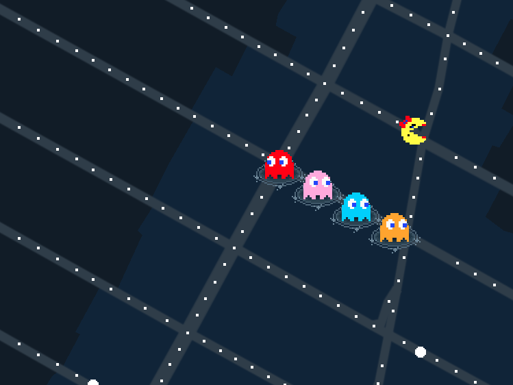 ms pac man google maps april fool's day