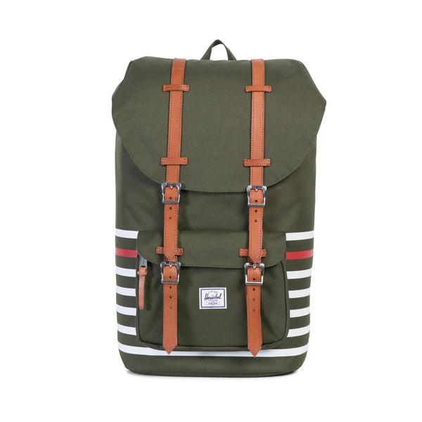 Herschel Supply Little America Offset Green Backpack