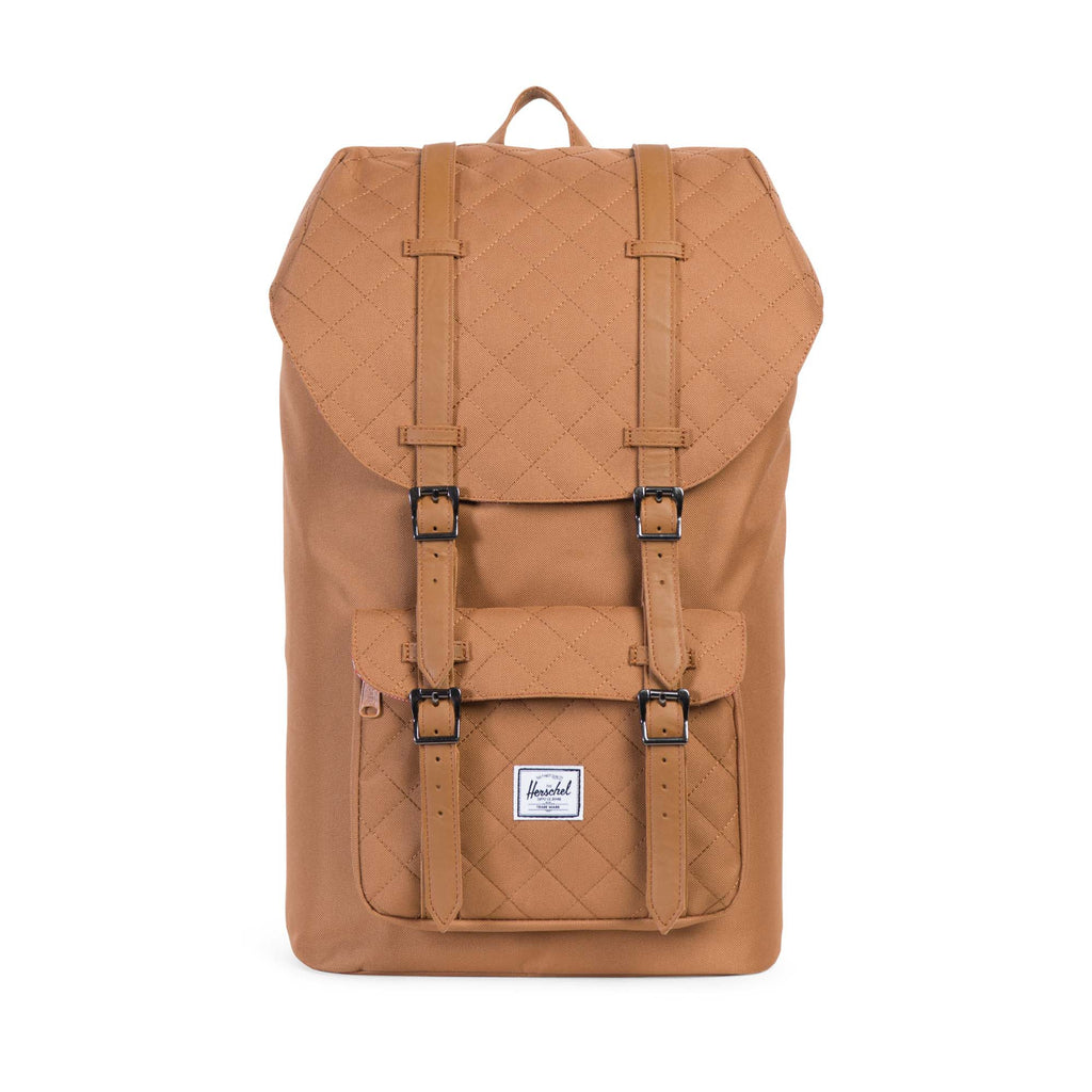 Herschel Supply Little America Quilted Caramel Brown Backpack
