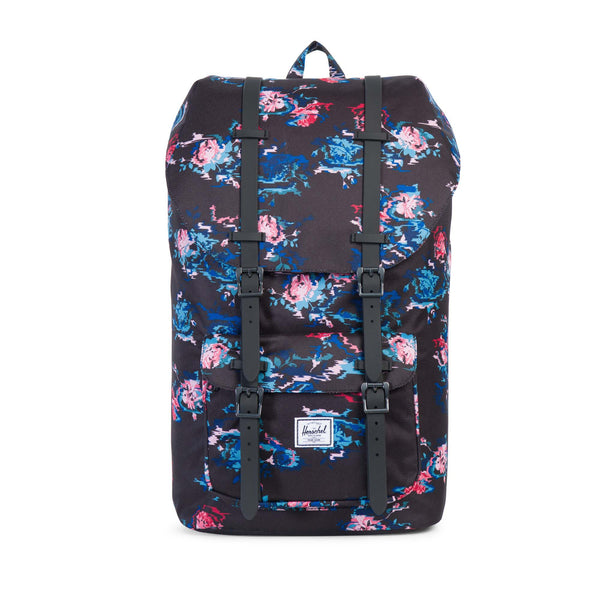 Herschel Supply Little America Floral Blur Black Backpack