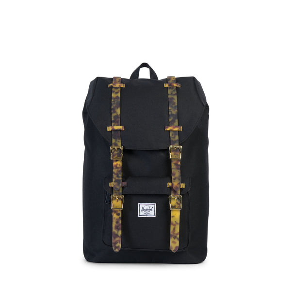 Herschel Supply Little America Mid Volume Black Tortoise Shell Backpack
