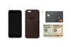 Bellroy Java Brown Leather iPhone Case 1 Card