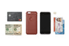 Bellroy Tamarillo Brown Leather iPhone Case 3 Card