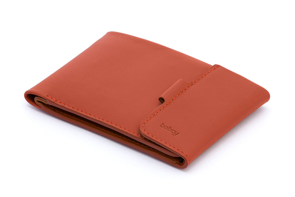 Bellroy Coin Fold Tamarillo Brown Leather Wallet