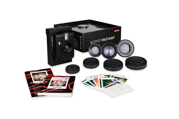 Lomo'Instant Black Edition Camera and 3 Lenses