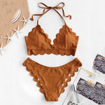 Halter Bandage Push-Up Swimwear