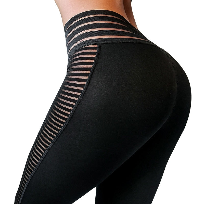 Side Stripes Push Up Workout Leggings