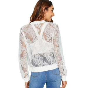See Through Slim Lace Jacket