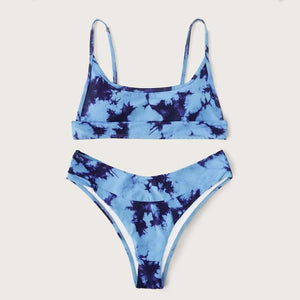 Tie-dye Printed Bathing Suit