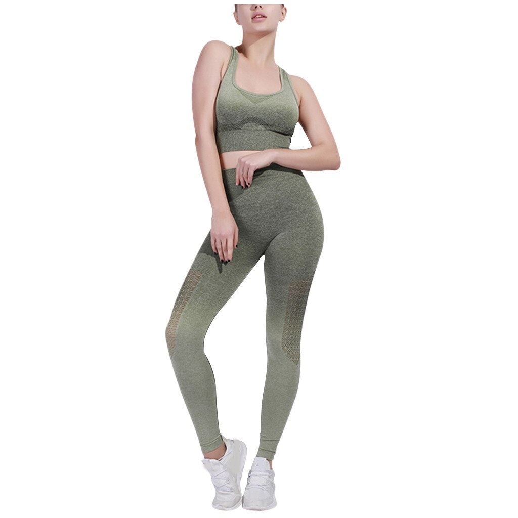 Gradient High Stretchy Workout Sport Set