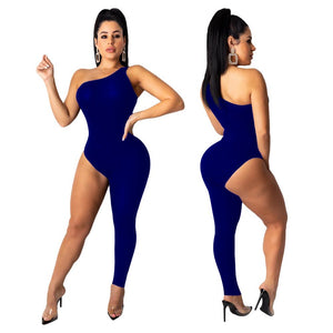 Hot One-Legged Bodycon Jumpsuit