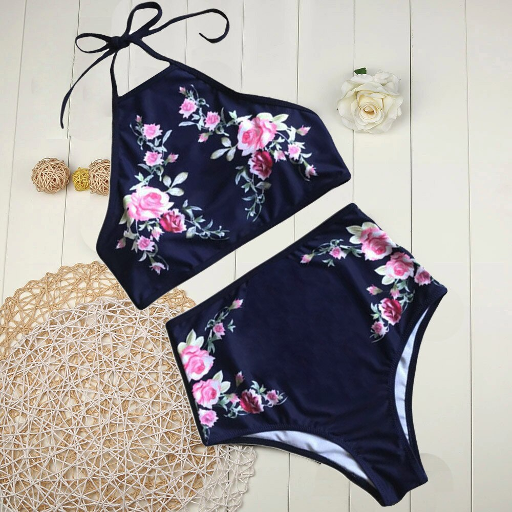 Floral Print Push-Up Padded Bathing Suit