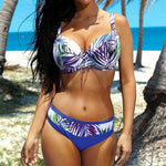 Floral High Waist Bathing Suit