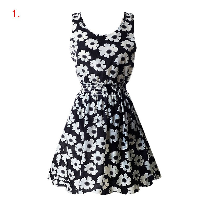 Chiffon Floral Tank Dress