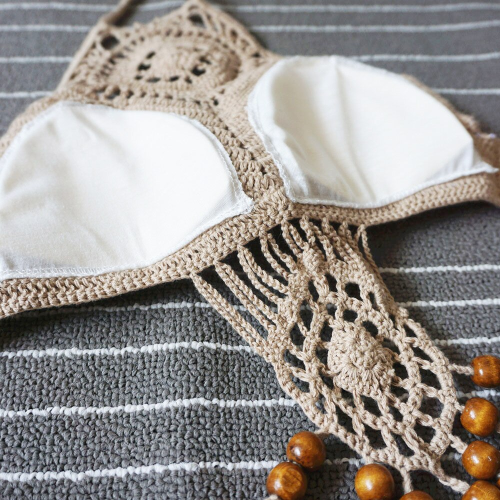 Bohemian Handmade Knitted Fringed Bathing Suit